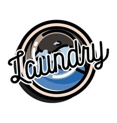 Color vintage laundry emblem vector
