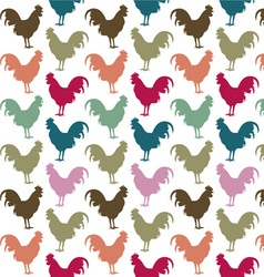 Colorful cock pattern vector