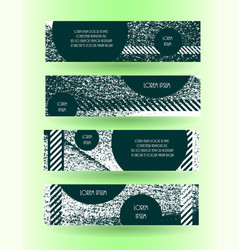 Grunge style horizontal layout banner set vector