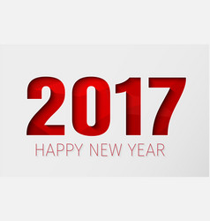Template white background happy new year 2017 vector