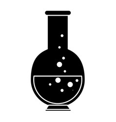 Chemistry flask lab vector