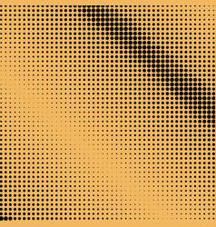 Black dots on orange backgroundpop art vector