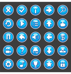 Aqua game buttons vector
