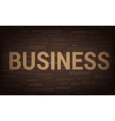 3093 business word vector image