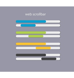 Web scrollbars with light colors vector