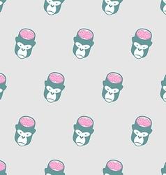 Monkey Brains Gorilla seamless pattern background vector image