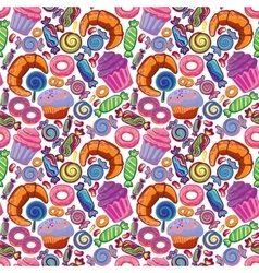 Yummy colorful sweet lollipop candy donuts vector
