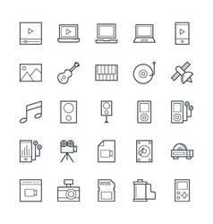 Multimedia cool icons 3 vector