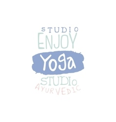 Studio yoga hand drawn promotion sign vector