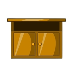 Bedside table icon cartoon style vector