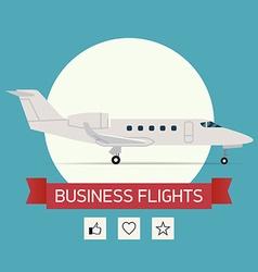 Business flight poster vector