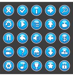 Aqua game buttons vector