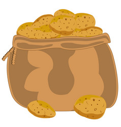 Bag with potatoes vector