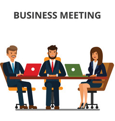Business meeting businessmen and businesswoman vector