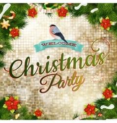 Christmas greeting card EPS 10 vector image vector image