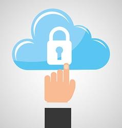 cloud security vector image vector image