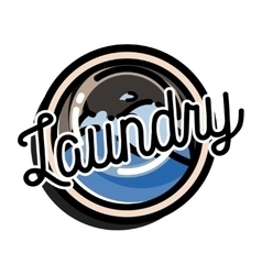 Color vintage laundry emblem vector image vector image