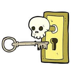 comic cartoon spooky door knob vector image