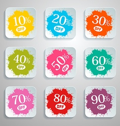 Discount Splash - Paper Labels Set vector image vector image