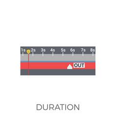 Duration icon vector