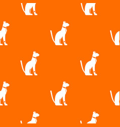 egyptian cat pattern seamless vector image vector image