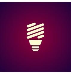 energy saving fluorescent light bulb icon vector image