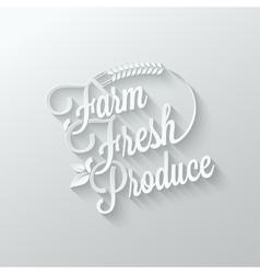 Farm fresh cut paper lettering background vector