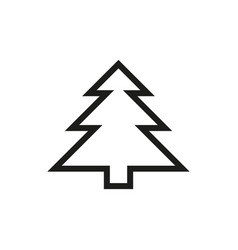 fir-tree icon on white background vector image vector image