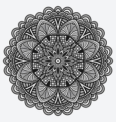 Floral ornament circular monochrome pattern vector