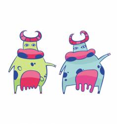 funky cows vector image vector image