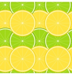 Lemon and Lime Seamless Pattern vector image vector image