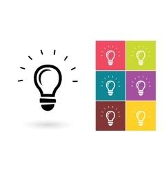 Light lamp icon or idea symbol vector