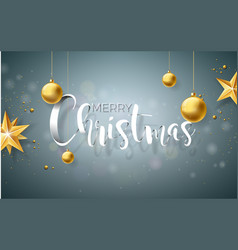 merry christmas on grey background vector image vector image