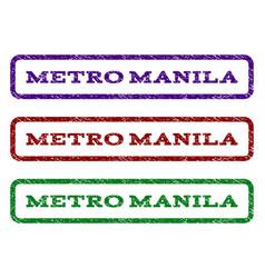 Metro manila watermark stamp vector