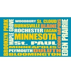Minnesota state cities list vector