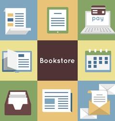 Mobile service online bookstore vector