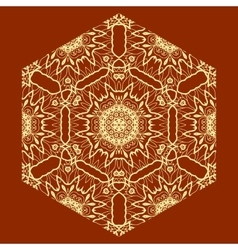 Ornamental Arabian Print on Red Background vector image vector image