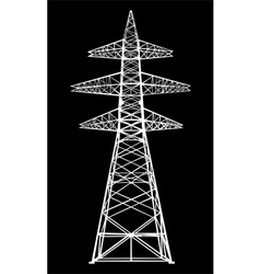 Power transmission tower vector