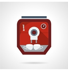 Red modern coffee maker flat icon vector image vector image