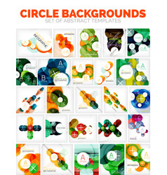 Set of circle backgrounds with places for vector