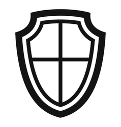 Shield icon in simple style vector image