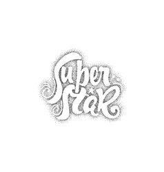 Super star- pointillism calligraphic patch vector