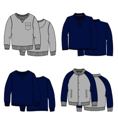 Sweaters color vector image vector image