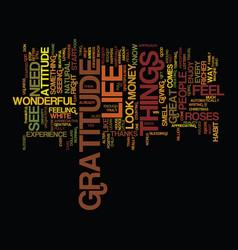The attitude of gratitude text background word vector