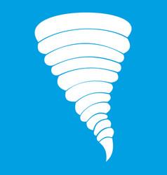 Tornado icon white vector