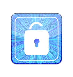 version Unlock icon Eps 10 vector image vector image