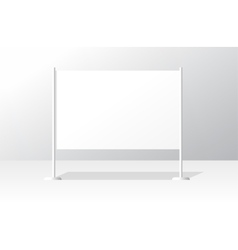 White advertising stand board empty banner vector