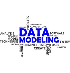 Word cloud data modeling vector