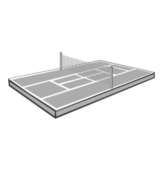 Tennis court icon gray monochrome style vector