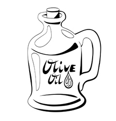 bottle of oil vector image
